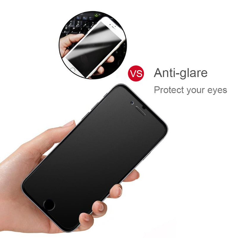 Matte Frosted Glass Protective Tempered Glass Screen Protector For iphone X XR XS Max 8 7 Plus 6S 5 SE No Fingerprint Film glass