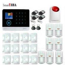 SmartYIBA English/Russian/Spanish Wireless wifi GSM Alarm System 433MHz Home Burglar Security Alarm System