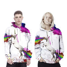 Cosplay Hoodies Hood Pegasus 3D three-dimensional printing sweater couple hooded sweater