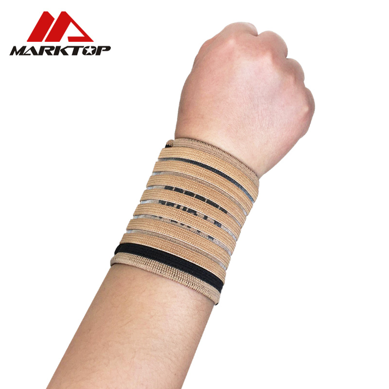 Sports Safety Elastic Wristband Support Wrist Wraps Bandages Brace for Gym Fitness Weightlifting Powerlifting Basketball Tennis in Wrist Support from Sports Entertainment