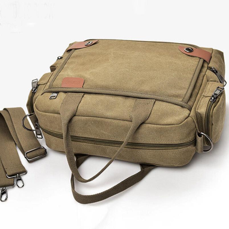 2018 Последняя мода Мужская парусиновая сумка Мужская сплошной цвет молнии слинг портфель сумка # F