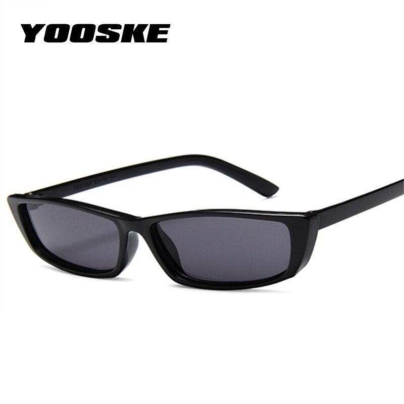 7fbe099c35 YOOSKE Small Cat Eye Sunglasses Women Vintage Unique Design Rectangle Sun  Glasses for Men Fashion Small Frame Retro Sunglass-in Sunglasses from  Apparel ...