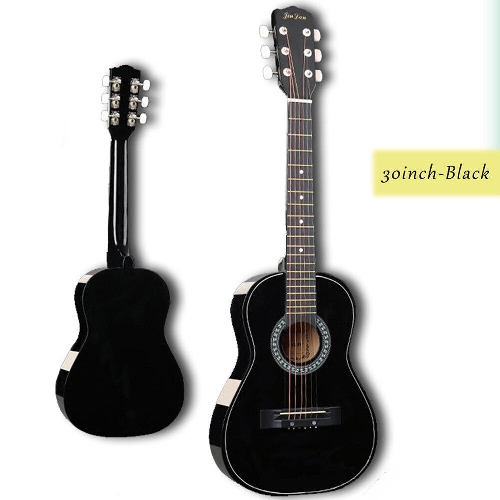 30 pouces guitare Folk acoustique Guitarra 6 cordes Top qualité tilleul pour enfants débutant donner des choix cadeau AGT05 - 6