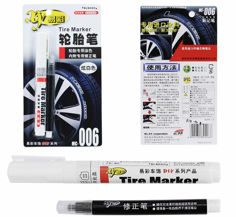 Paint Pen Cool White Large Volume Letter Touch Marking Pen Marker For Car Tires Automotive car-styling ire Ink Touchup Paint pen