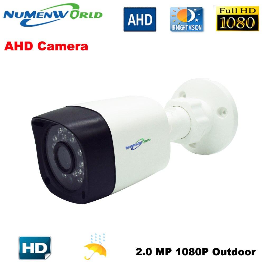 Numenworld Extérieure CCTV AHD caméra 2.0MP 1080 p HD Caméra de Sécurité avec IR-CUT 24 IR Led de Vision Nocturne caméra Analogique pour un usage domestique