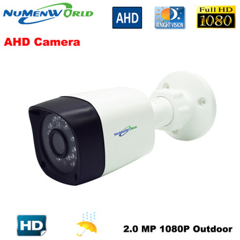 Numenworld Outdoor CCTV AHD camera 2.0MP 1080P HD Security Camera with IR-CUT 24 IR LEDs Night Vision Analog camera for home use 1080p analog hd 2mp bullet ahd camera 1 3 cmos camera security ir 20m ir cut 36pcs leds surveillance cameras for ahd dvr