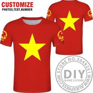 Image 2 - VIET NAM maglietta fai da te di trasporto custom made nome numero di vnm t shirt nazione bandiera vn vietnam vietnamita paese la stampa di testo vestiti foto