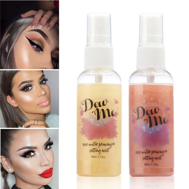 Configuración de maquillaje espray botella de acabado mate Ajuste de aceite de aerosol-control de aceite Natural de larga duración maquillaje fijar base espray TSLM2