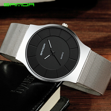 купить SANDA Mens Watches Top Brand Luxury Rose Gold Steel Mesh Men Quartz Watch Fashion Business Male Wristwatches Relogio Masculino дешево