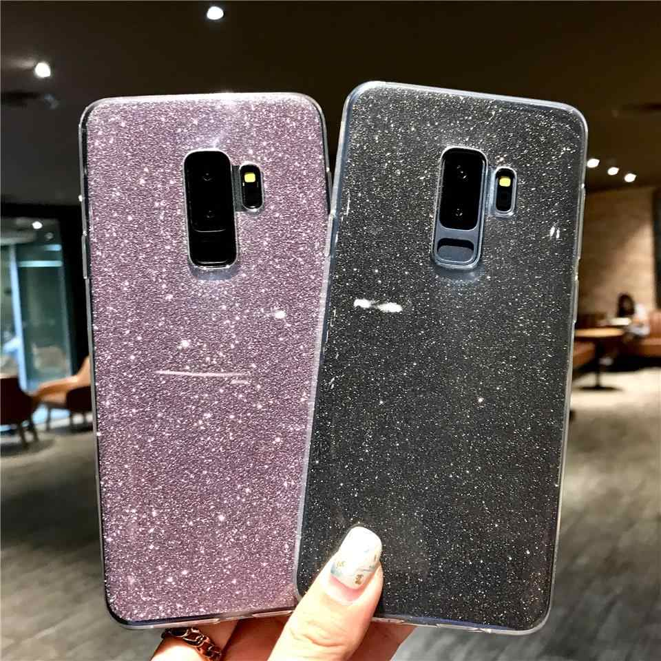 Glitter 2 in 1 Silicone Case For Samsung S9 S8 Plus S7 S6 Edge Note 9 J4 J6 A6 A8 2018 A3 A5 A7 2016 2017 J2 J3 J5 J7 Pro Cover