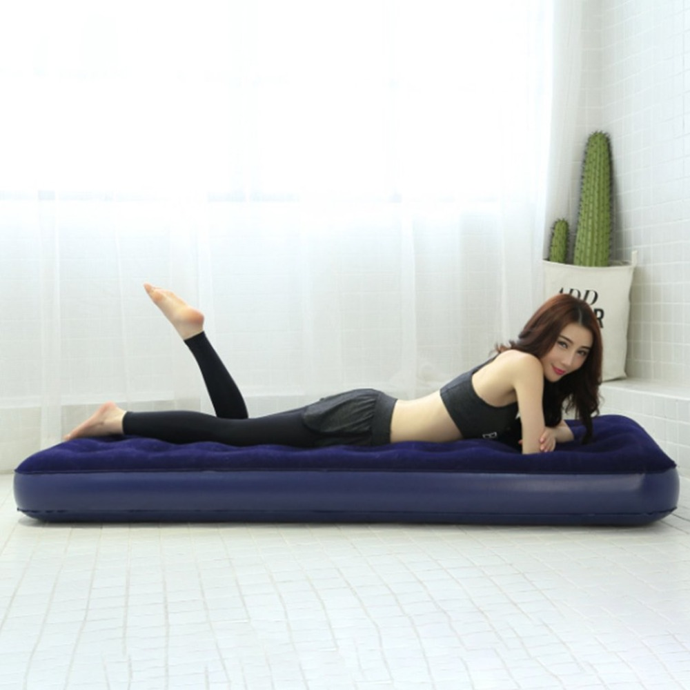 Foldable Inflatable Bed Sleeping Air Mattress Mat Indoor Lazy Lay Bed Folding Inflatable Pad