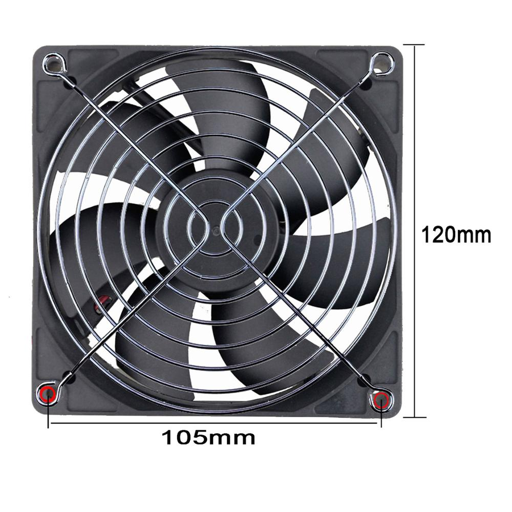 1 Piece Gdstime Metal Wire Finger Grill for 120mm 12cm CPU DC Fan PC Guard Protector in Fans Cooling from Computer Office