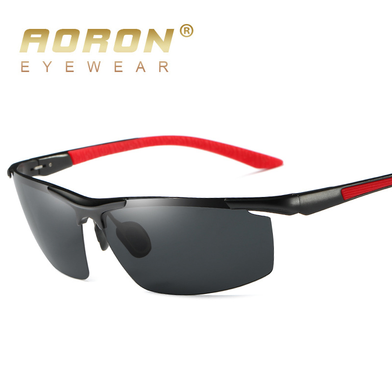 AORON Men Polarized Sunglasses Aluminum Frame Driving Goggles Male UV400 Glasses Brand Design Eyewear