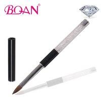 Bqan kryształ sprzedaż rhinestone uchwyt nail art design czysta kolinsky szczotka szczotka do paznokci akrylowych 10 #