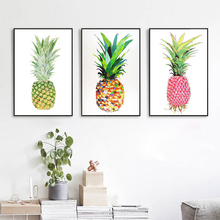 50*70cm New Pineapple Nordic Poster and Prints Minimalist Wall Art Canvas Painting Picture for Living Room Home Decor
