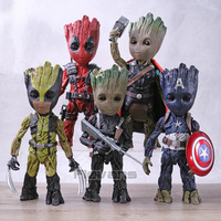 Hot Toys Marvel Tree Man Cos Deadpool Captain America Bucky Thor Wolverine PVC Action Figure Collectible Model Toy