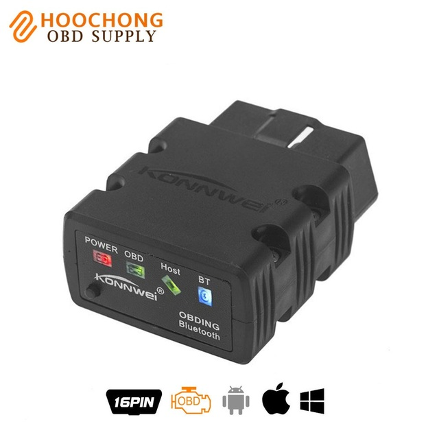 New Konnwei KW902 ELM327 V1.5 Bluetooth / Wifi OBD2 OBDII CAN-BUS Diagnostic Car Scanner Tool Works on iOS iPhone Android Phone