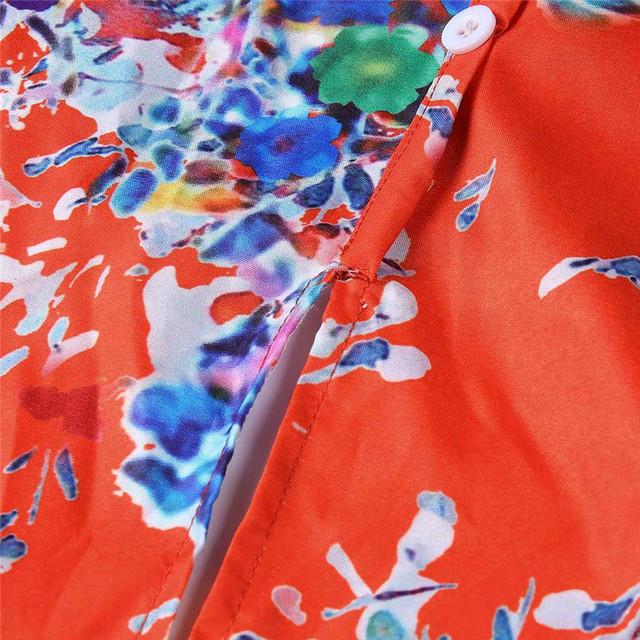 Casual Loose Summer Floral Print Tank Top