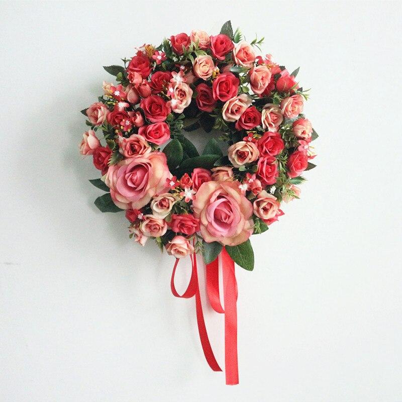 Flone искусственные цветы, венки, украшение на Хэллоуин, Рождество, украшение для дома, идеальное качество