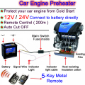 NEW ! Protect Your Car! Car Preheater 12V Remote Control Car Engine Preheater Engine Oil Preheating System 12V Engine Preheater