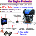 NOVO! proteja O Seu Carro! Aquecedor do carro 12 V Preheating Preheater Motor de Óleo Do Motor Do Carro de Controle Remoto Sistema de 12 V Do Motor Preheater