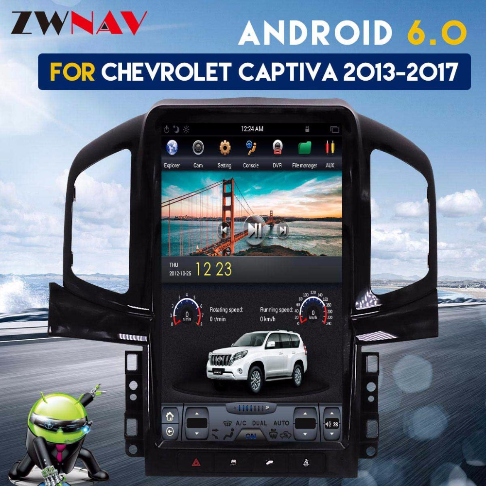 Tesla style IPS Screen 13.8 Android 6.0 Car Radio GPS Navigation For Chevrolet Captiva 2013 2014 2015 2016 2017 No DVD Player