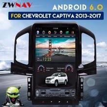 Тесла стиль ips Экран 13,8 «Android 6,0 автомобилей Радио gps навигации для Chevrolet Captiva 2013 2014 2015 2016 2017 нет dvd-плеер