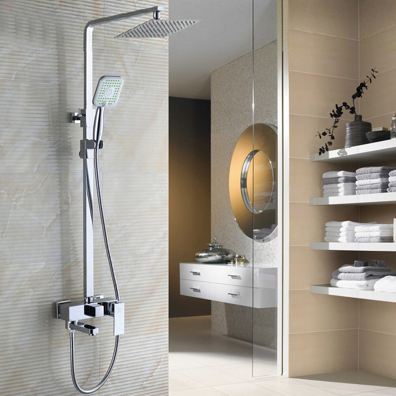 bathroom-shower-set-faucet-with-8-Ultrathin-showerhead-ABS-hand-shower-swivel-bathtub-tap-adjust-height