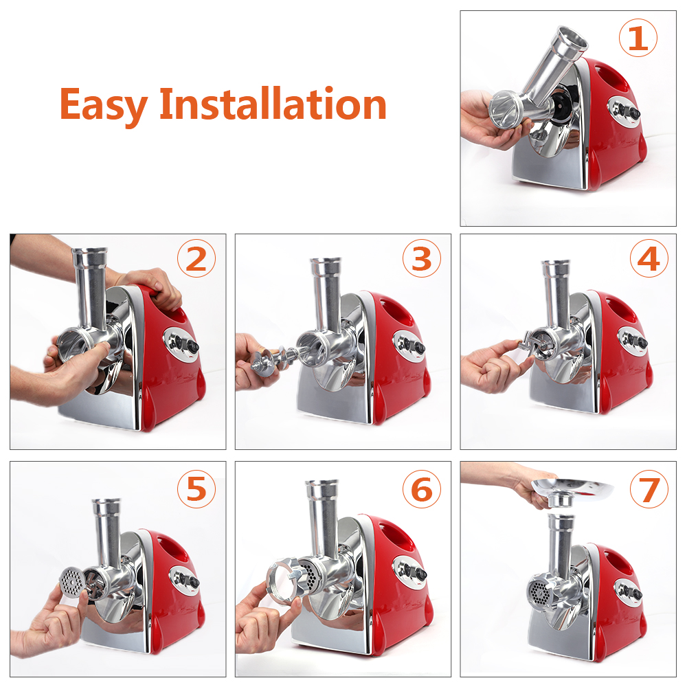 Electric Meat Grinder Sausage Stuffer Meat Mincer with Handle Household Mincer in Manual Meat Grinders from Home Garden