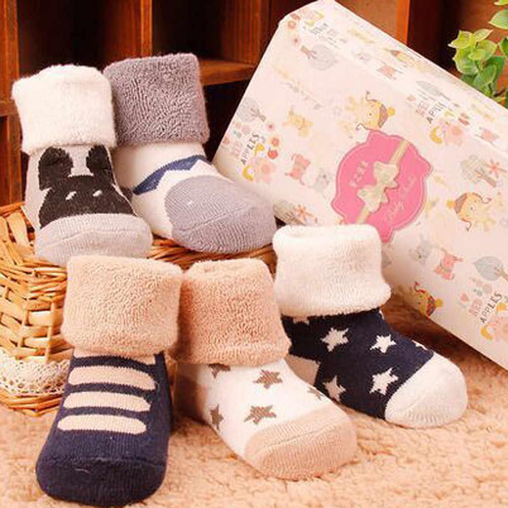 การ์ตูนรองเท้ารองเท้าแตะรองเท้าอุ่นถุงเท้าเด็กสาวถุงเท้าเด็ก Anti Slip ทารกแรกเกิดสัตว์นุ่มอุ่นปะการังขนแกะถุงเท้า