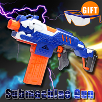 Electric Continuous Launch Soft Bullets Toy Gun Assembly Submachine Gun Children Quality Gifts Toys Gun Experience
