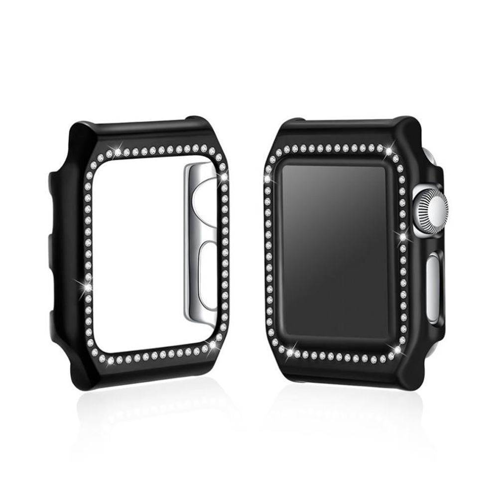 цены на EIMO NEW Diamond Case For Apple Watch 42mm 38mm Iwatch series 3 2 1 PC Frame Crystal Protective Cover Shell Watch Accessories в интернет-магазинах