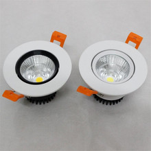 Free Shipping Dimmable 10W LED COB Ceiling Down Light Dowlight Warm / Cool White Recessed Lamp For Home Lighting  20pcs/lot