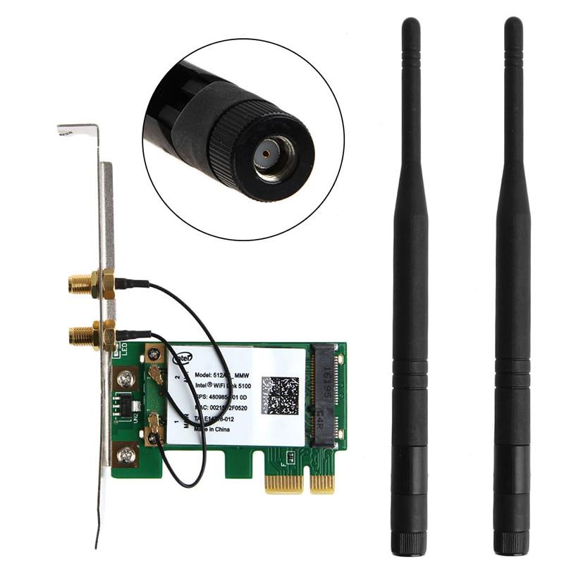 ANENG High Quality 300M PCI-E X16 X1 PC Computer 2.4/5GHz Dual Band Wireless Desktop WIFI WLAN Card