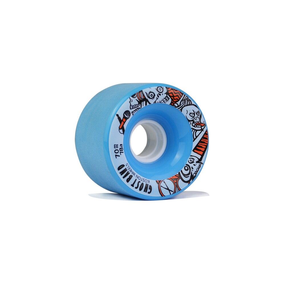 Prix pour KOSTON pro longboard planche à roulettes roues avec 80% rebond, 70mm longboard roues avec surface polie en 78A duromètre