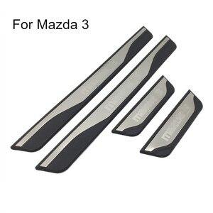 Image 1 - Capa adesiva de pedal para porta de carro, para mazda 3 axela 2014 2015 2016 2017 acessórios de estilo