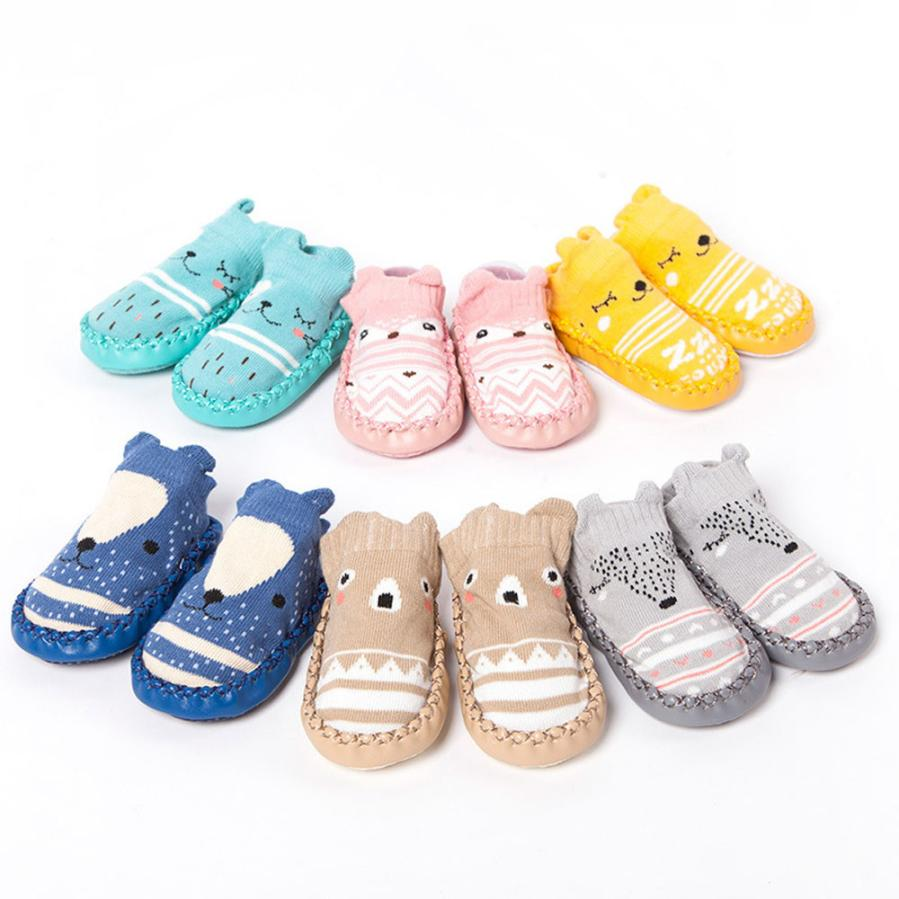 Newest Baby Shoes Newborn Infantil Baby Girls Boys Cartoon Anti-Slip Socks Slipper Bell Shoes Boots Baby Moccasins First Walkers