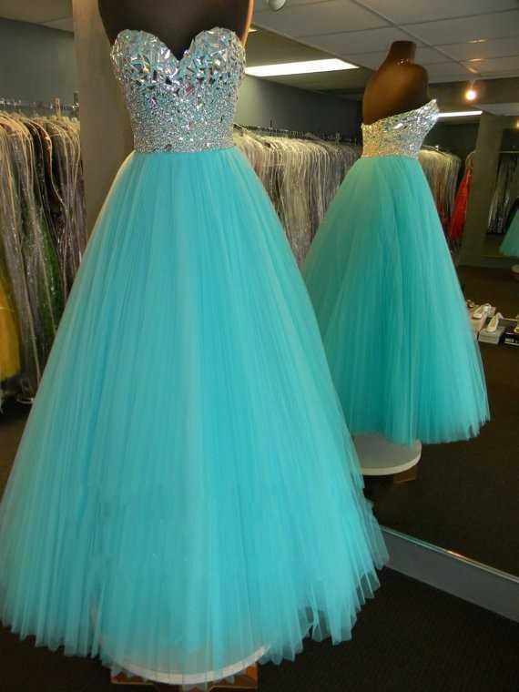 Vestido azul aguamarina