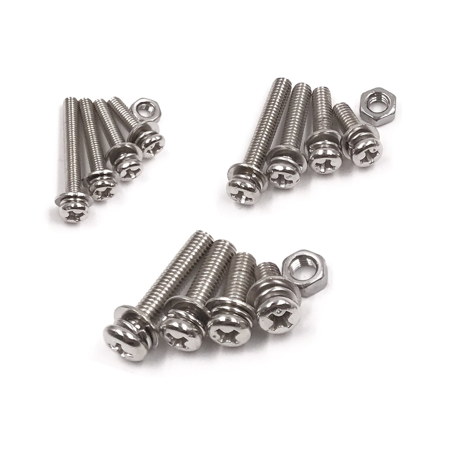 Hot sale 360-Pack 12 Sizes Phillips Pan Head Machine Screws Bolts Nuts Lock Flat Washer Assortment Kit, Carbon Steel, M3 M4 M5 creativity street wiggle eyes assortment assorted sizes black 100 pack