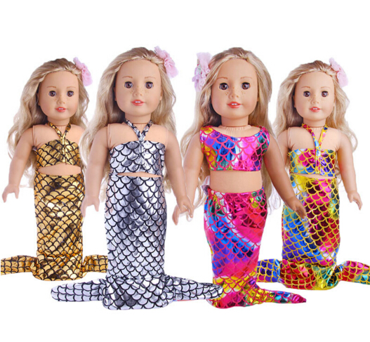 Baby Born Doll Clothes Fit 43cm Zapf Baby Born Doll Mermaid dress set 18 inch doll outfit ���������� baby born