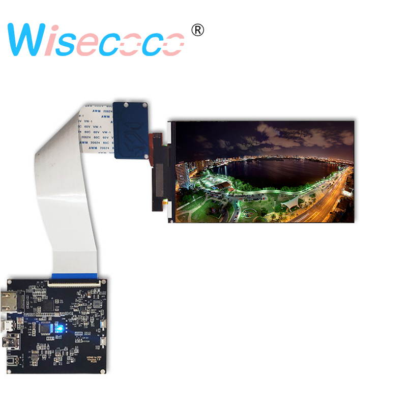 5.5 inch 4k lcd screen 3840*2160 Resolution Panel Lcd Display With Hdmi To Mipi For VR 2018 And Hmd 3D printer diy project(China)