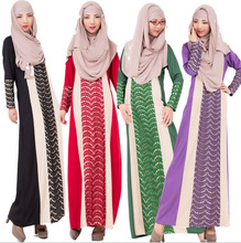 The new best-selling Arab burqa dress ethnic fashion lace decoration