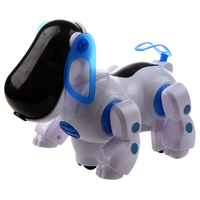 5 pack Robotic Interactive Pet Dog Walking Bump Go Puppy Kids Toy Children