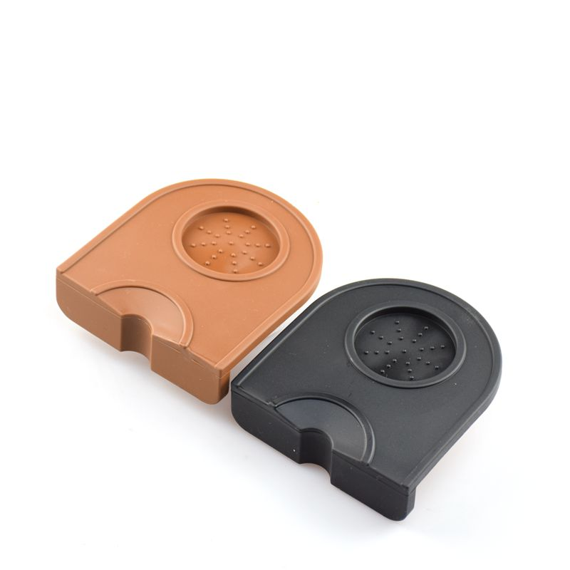 1PC Free ShippingEspresso Coffee Tamper Mat Food Grade Silicone rubber tampering corner mat Professional Coffee Tamer