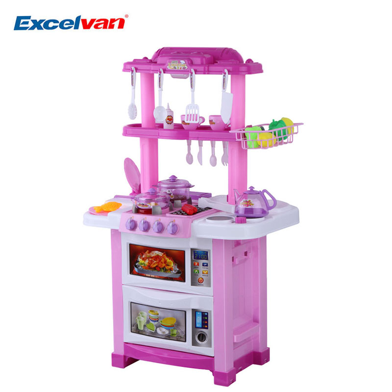 Children two sides electronic kitchen cooking role pretend for Electronic kitchen set