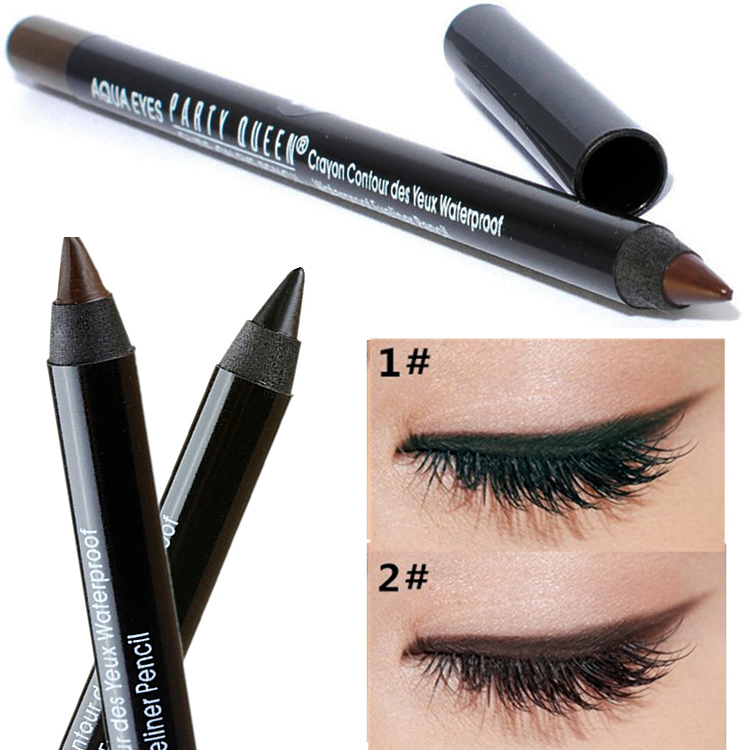 Party Queen Brand 2017 New Eye Liner Pencil Makeup Long Lasting Waterproof Black Brown C ...