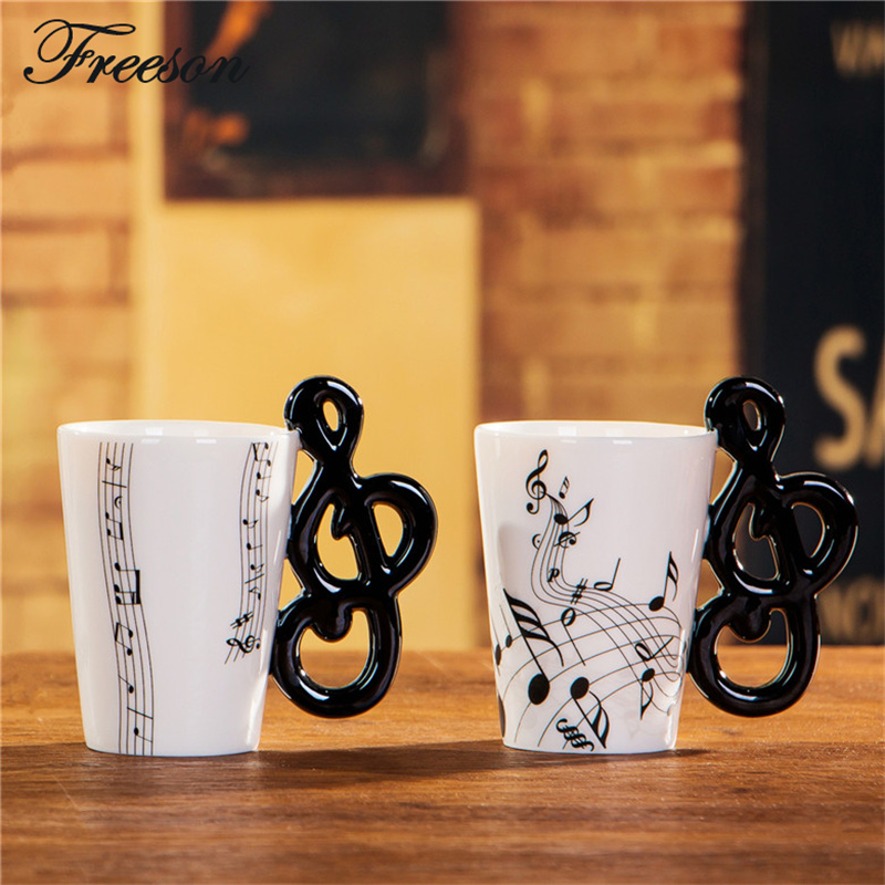 Funny Music Note Bone China Mug 240ml Ceramic Coffee Tea Mug Porcelain Zakka font b Novelty
