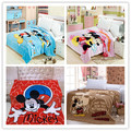 Free shipping Children cartoon Coral fleece blankets on the bed,Mickey Minnie bedclothes,cover throw,Bedspread 150X200CM 5design
