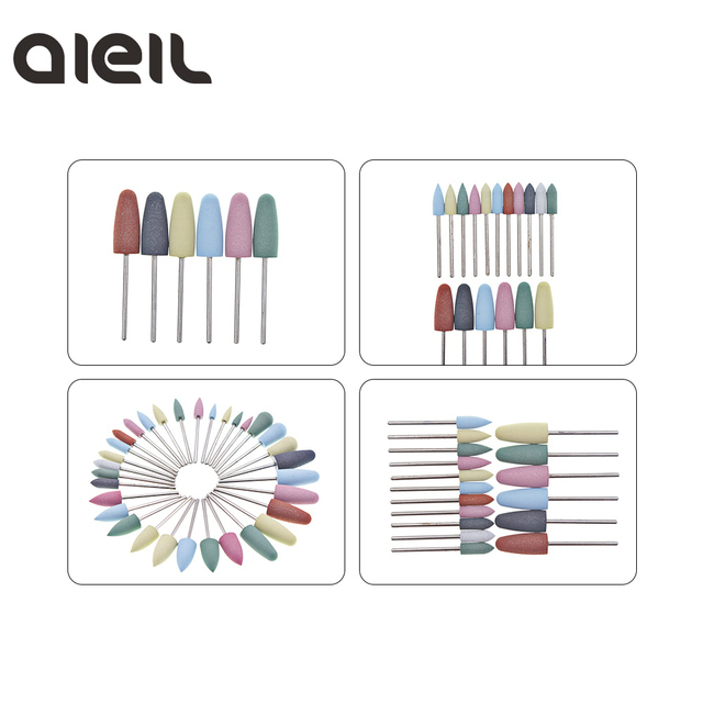 Silicone Nail Drill Bit Cutter for Manicure Machine for Manicure Nail Drill Milling Cutter for Nail Tool Cutter for Pedicure Bit 5