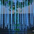 1 UNIDADES AC100-240V Al Aire Libre 30 CM lluvia de Meteoros Lluvia Tubos LED Luces De Navidad Jardín Del Banquete de Boda Cadena de Luz de Navidad VES86 T50